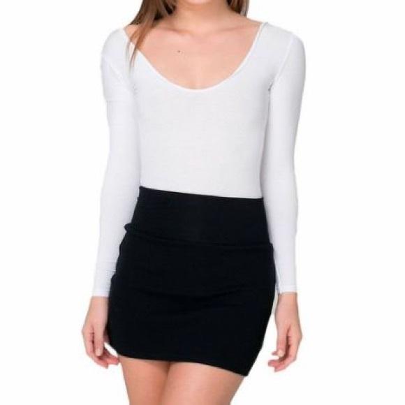 56a55d068 American Apparel Dresses & Skirts - CLEARANCE! American Apparel Black Ponte  Mini Skirt